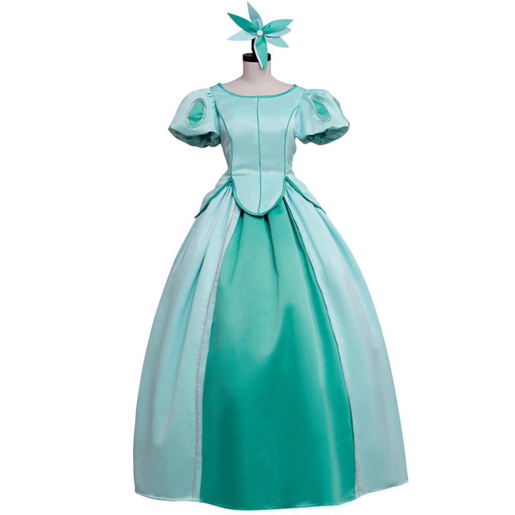 Custom Made Women's Dress The Little Mermaid Princess Ariel Blue Dress Cosplay For Party
