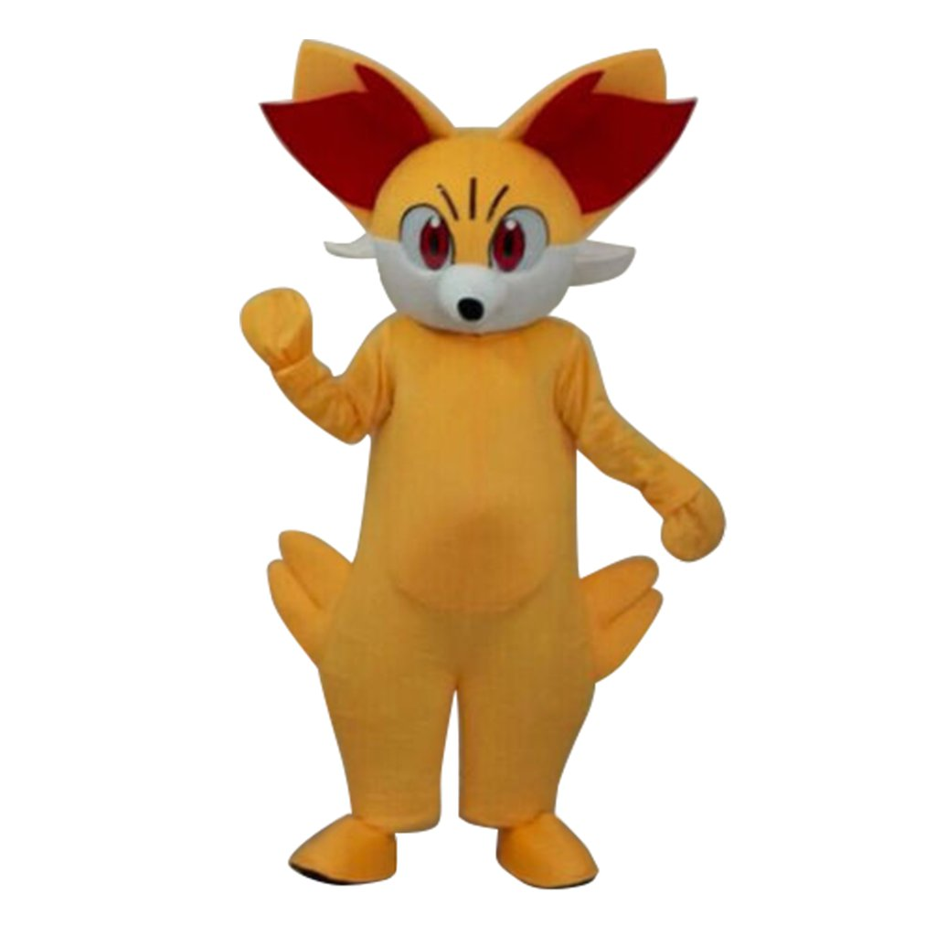 Cosplaydiy Mascot  Costume 2016 Pokemon GO Fired Fennekin Pocket Monster Cosplay For Christmas Party
