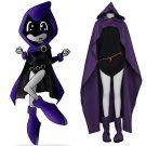 CosplayDiy Women's Dress Teen Titans Raven Cosplay Costume For Halloween Party