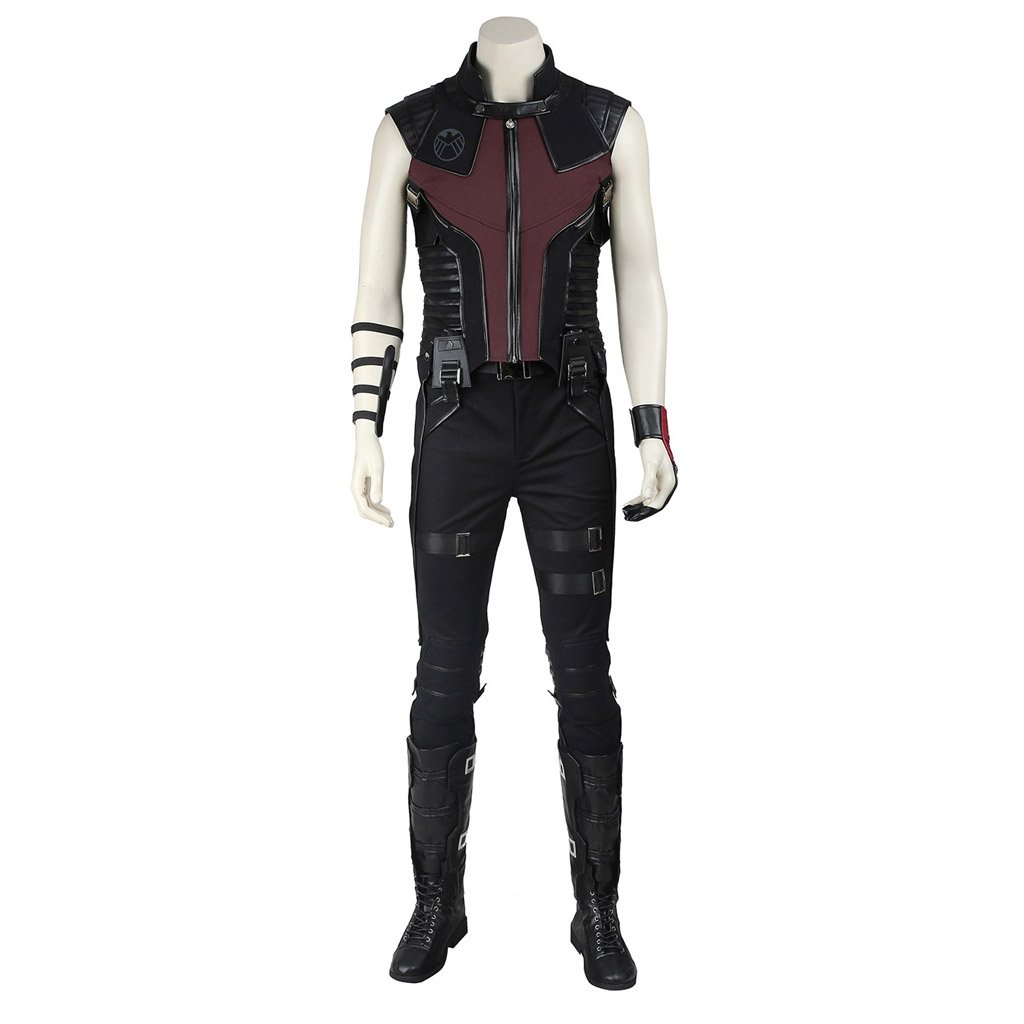 Cosplaydiy Men's Costume The Avengers Ultron Clint Barton Hawkeye Cosplay For Halloween Party