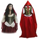 CosplayDiy Women's Once Upon a Time Ruby Dress Cosplay For Halloween