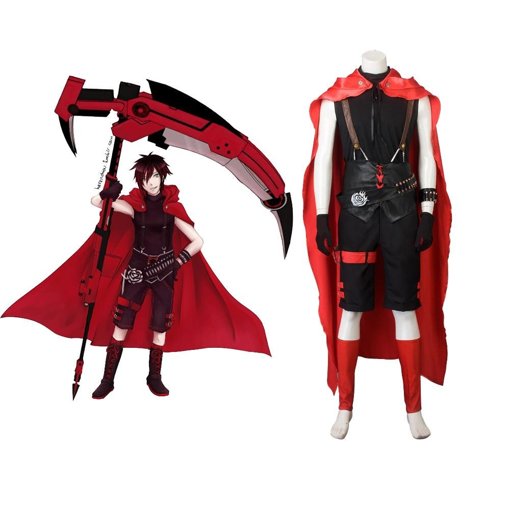 Adultu0027s Outfit RWBY Red Trailer Ruby Rose Cosplay Costume Man Version for Carnival Party  sc 1 st  CosplayDiy - eCRATER & Adultu0027s Outfit RWBY Red Trailer Ruby Rose Cosplay Costume Man ...