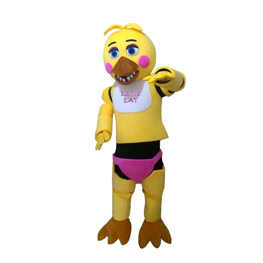 CosplayDiy Unisex Mascot Costume  Five Nights At Freddy's Chica Yellow Cosplay
