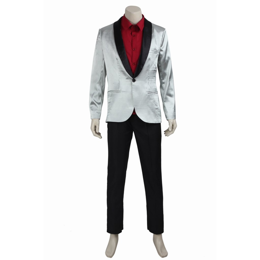 Cosplaydiy Men's Costume Suicide Squad Joker Cosplay For  Party
