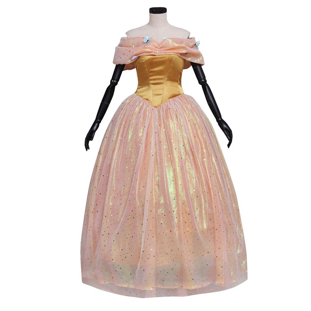 Cinderella Dress Custom Made Women's Princess Dress Costume Cosplay Yellow Version