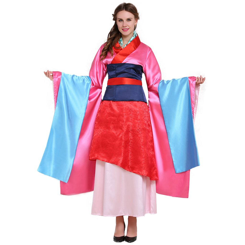 Hua Mulan Dress Vintage Chinese Styles Dress Female Hero Costumes Cosplay