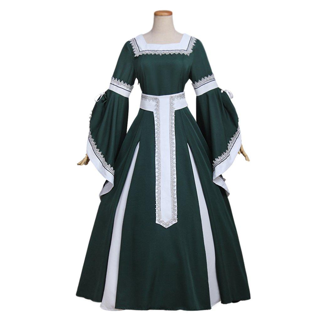 CosplayDiy Women's Dress Renaissance Peasant Dress ...