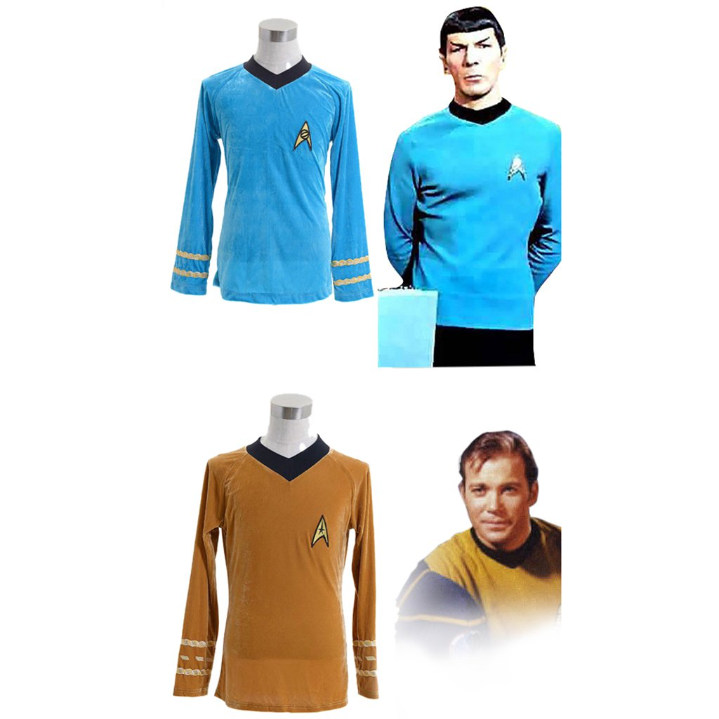 CosplayDiy Men's Shirt Star Trek:The Original Series Kirk Cosplay Costume for Halloween Carnival