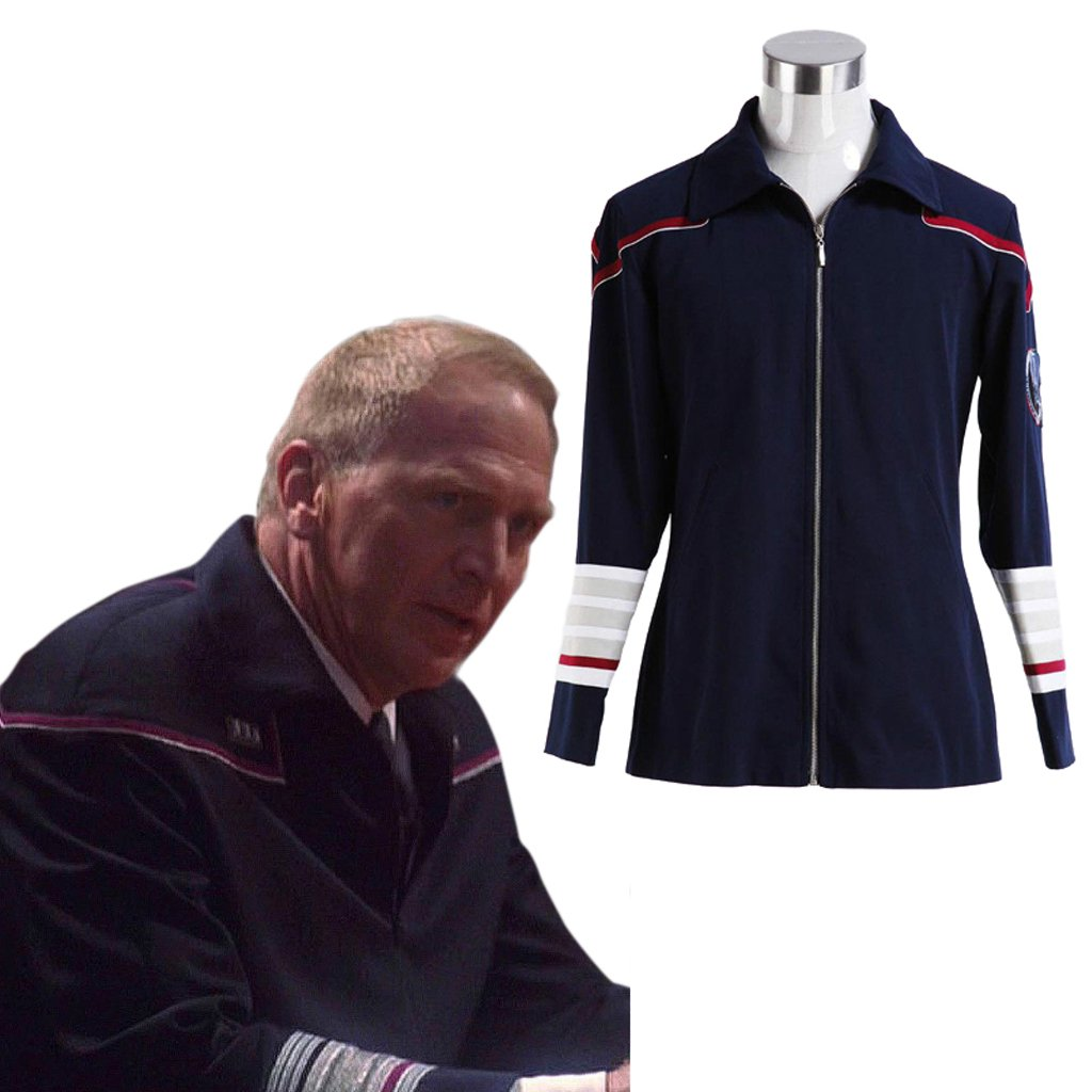 CosplayDiy Men's Jacket Star Trek:Enterprise Admiral Jacket Coat Costume Cosplay for Halloween