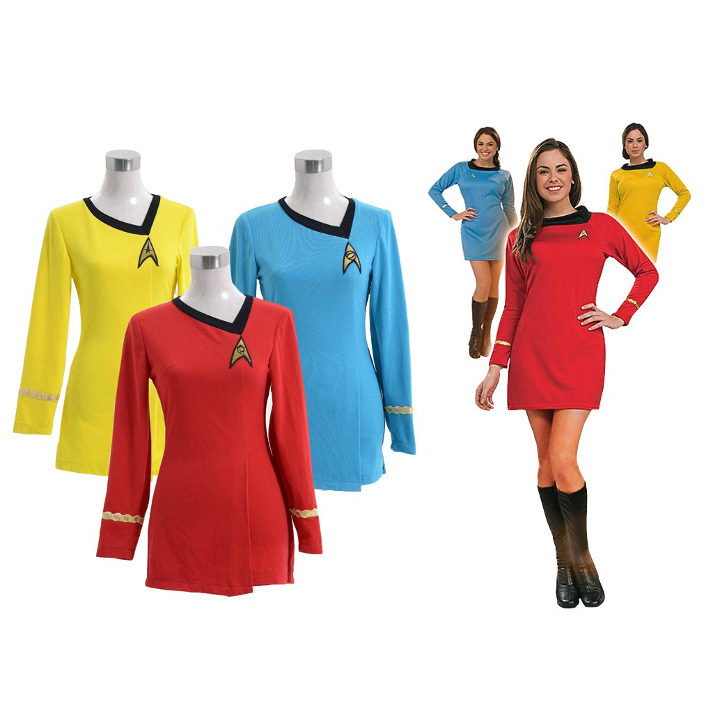 CosplayDiy Women's Fancy Dress Star Trek TOS Colorful Dress Costume Cosplay for Party