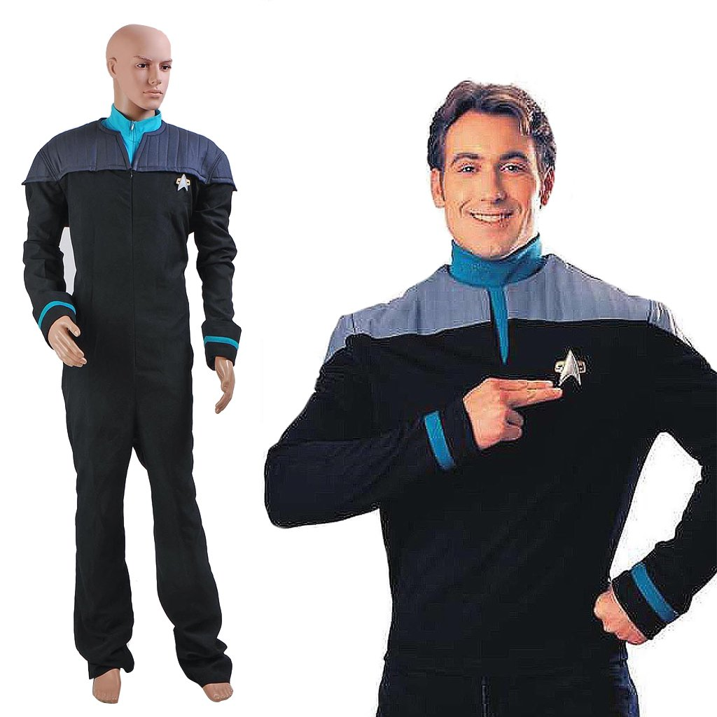 CosplayDiy Men's Outfit Star Trek TNG Deanna Troi Costume Cosplay for Halloween Carnival