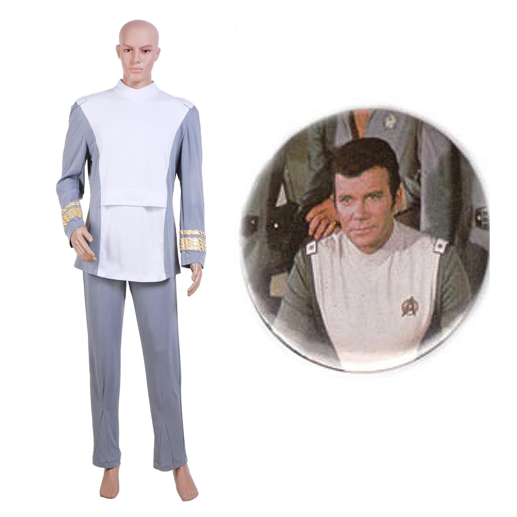 CosplayDiy Men's Uniform Star Trek The Motion Picture Admiral Kirk Costume Cosplay for Party