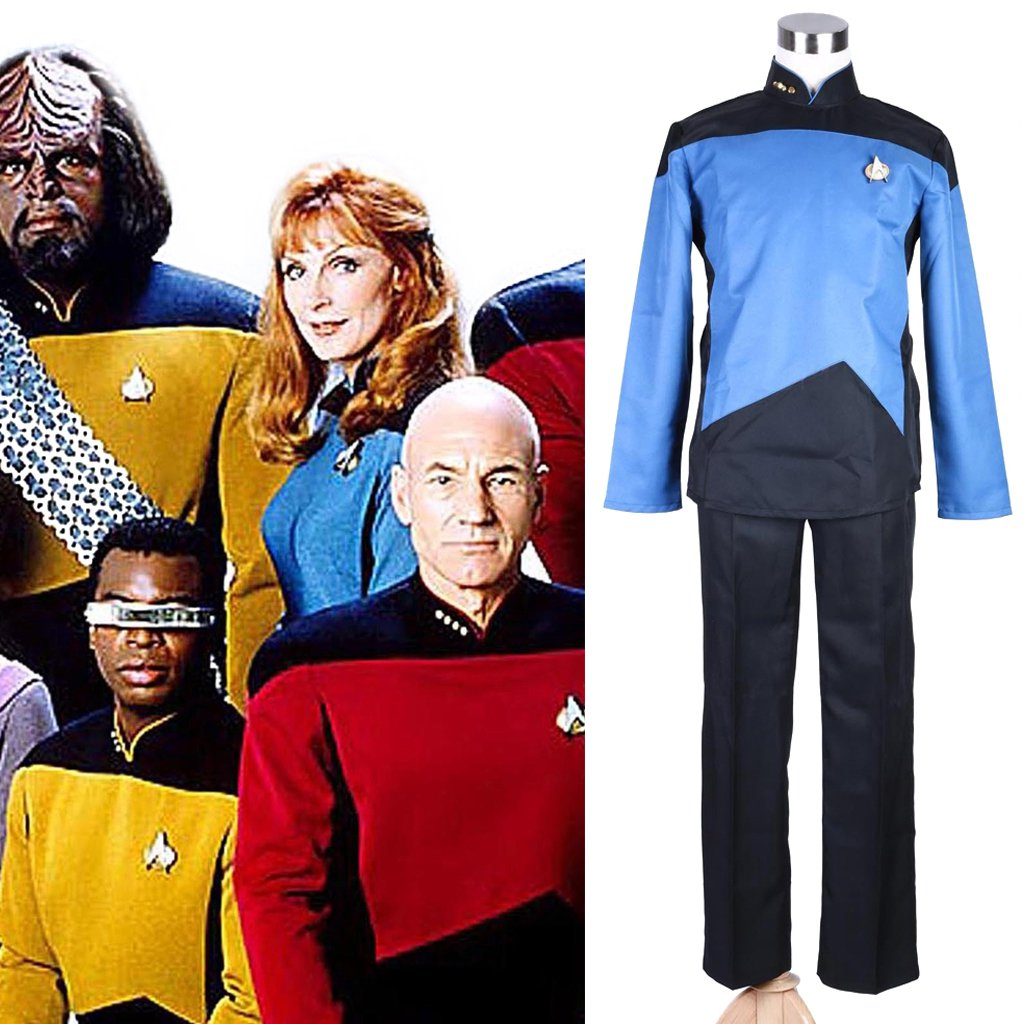 CosplayDiy Women's Costume Star Trek The Next Generation Blue Outfit Costume Cosplay