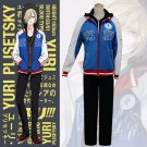 2017 New Arrival Anime YURI!!! on ICE Yuri Plisetsky Outfit Sport Wear Suit Uniform Costume Cosplay