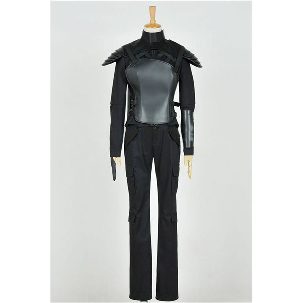 CosplayDiy Women's Outfit The Hunger Games Mockingjay Katniss Everdeen Leather Costume Cosplay