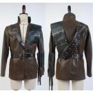CosplayDiy Men's Jacket Green Arrow Dark Archer leather Coat Jacket Costume Cosplay