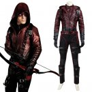 CosplayDiy Men's Outfit Green Arrow 3 Roy Red Arrow Costume Cosplay Version 2 for Halloween