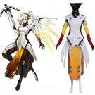 CosplayDiy Women's OW Overwatch Mercy Angela Ziegler Cosplay Costume Custom Made for Halloween