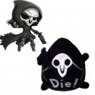 CosplayDiy Lovely Down Cotton Black&White OW BLEACH Reaper Doll Cosplay Accessories