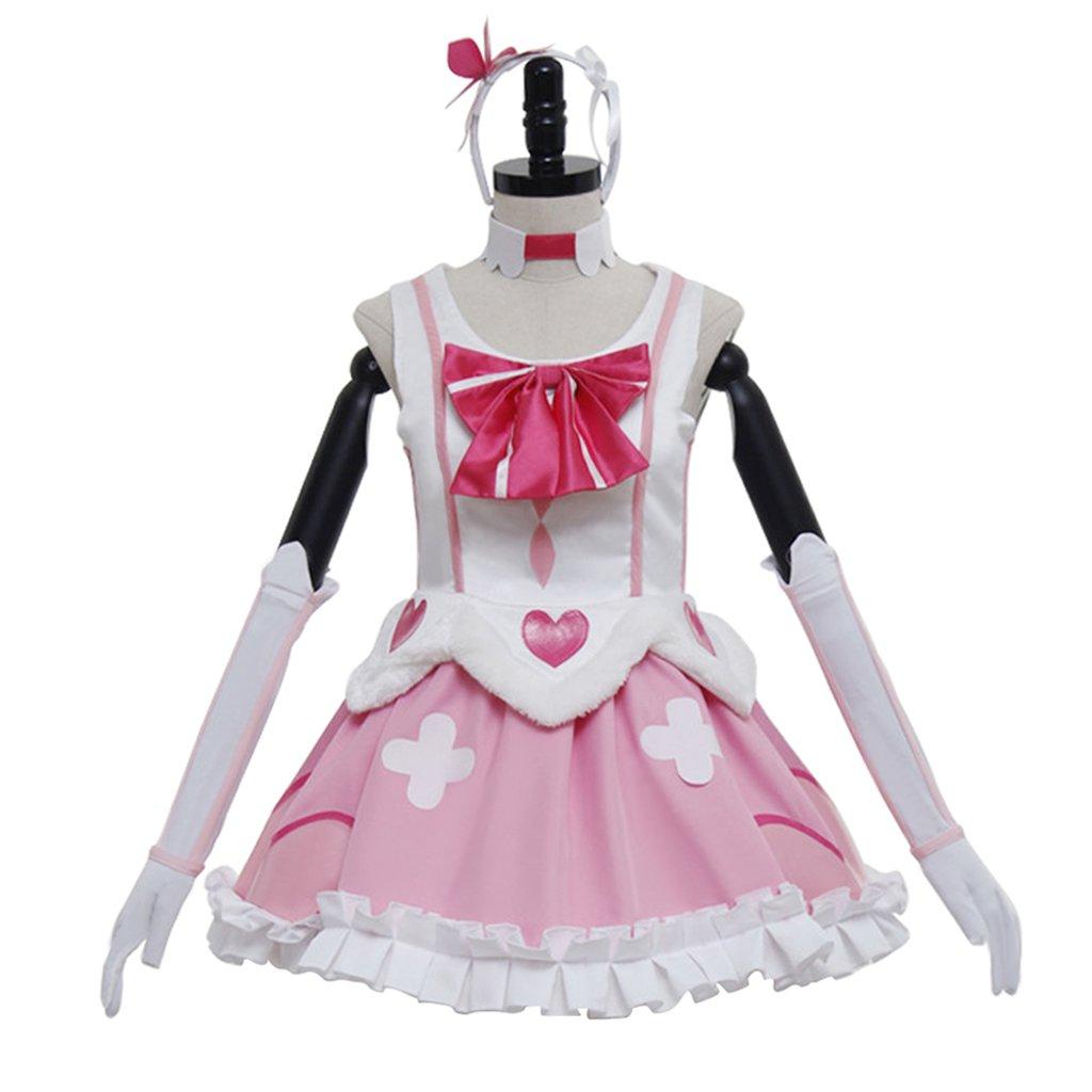 CosplayDiy Women&Girl's Dress Medieval Lolita Maid Dress Women's Pink Dress Costume Cosplay