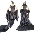 CosplayDiy Women's Black Dress Medieval Luxury Evening Dress Costume Cosplay for Party