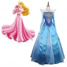 Princess Aurora Dress Sleeping Beauty Blue Version Costume Cosplay for Party