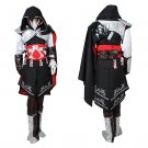 Game Ezio Costume Cosplay Assassin's Creed Ezio Outfit Costume Cloak Black Edition Costume Cosplay