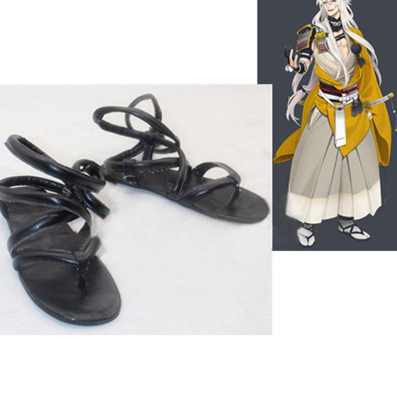 Touken Ranbu Online Kogitsunemaru Custom Made Shoes Sandals Cosplay Accessary