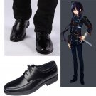 namazuo toushirou Shoes Cosplay Touken Tanbu Adult's Black Leather Shoes Cosplay