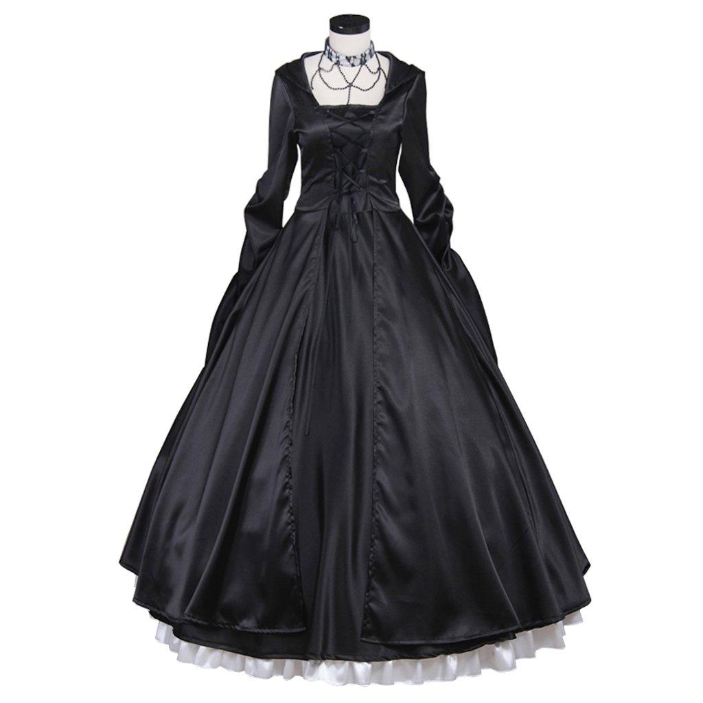 Adult's Black Dress Cosplay Medeival Victorian Vintage ...