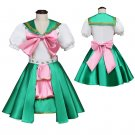 Kid's Dress Cosplay Momoiro Clover Z Girl's Custom Made Green Dress Costume Cosplay