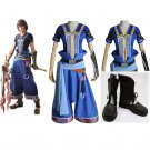 Noel Kreiss Blue Costume Cosplay Final Fantasy XIII-2 Adult's Custom Made Outfit with Boots Cosplay