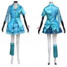 Girl's Spring Dress Costume Mimoiro Clover Z Member's Blue Lolita Short Dress Cosplay Party