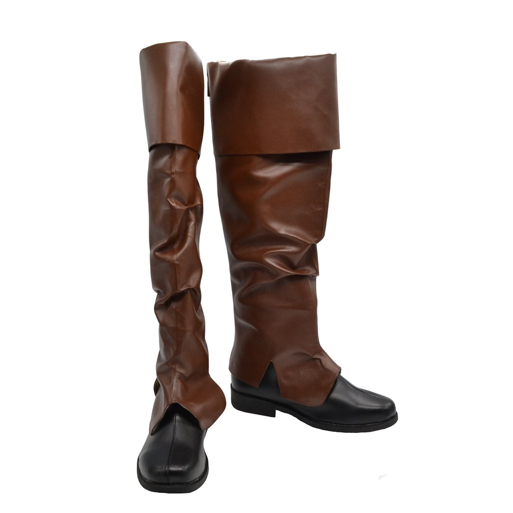 Arno Victor Dorian Boots Cosplay Assassin's Creed: Unity Arno Long Boots Leather Shoes Cosplay