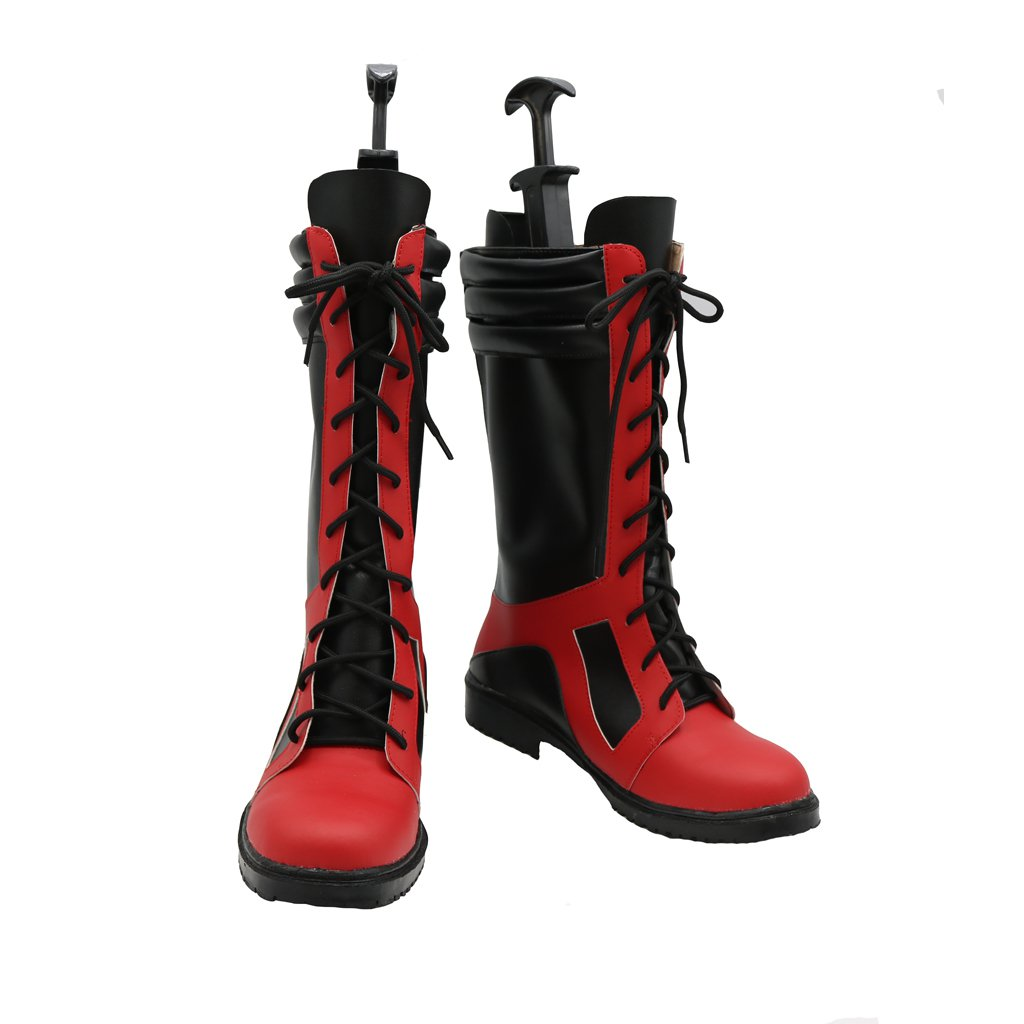 Adult's Custom Made Boots Cosplay X-Men Red&Black Shoes Boots Cosplay for Halloween Carnival Party