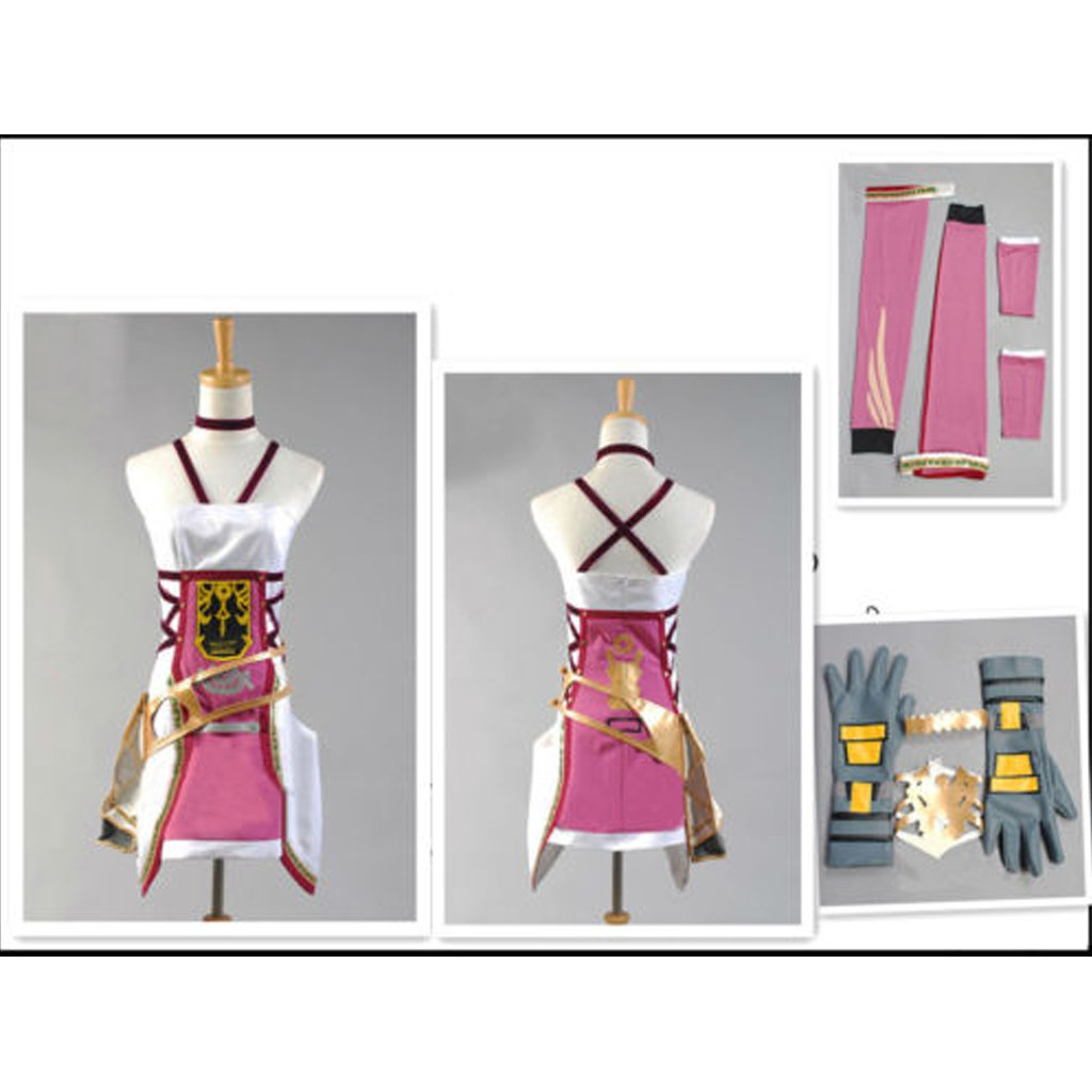 Final Fantasy 13-2 FF XIII -2 Serah Farron Cosplay Costume For Party