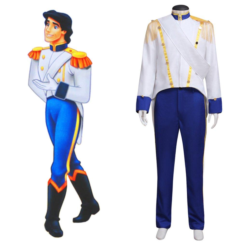 Prince Eric Costume Cosplay The Little Mermaid Custom Made Adult's Jacket Pants Costume Cosplay