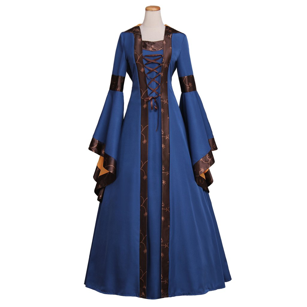 Vintage Medieval Dress Cosplay Custom Made Victorian Dress with Hoodie Costume Cosplay for Halloween