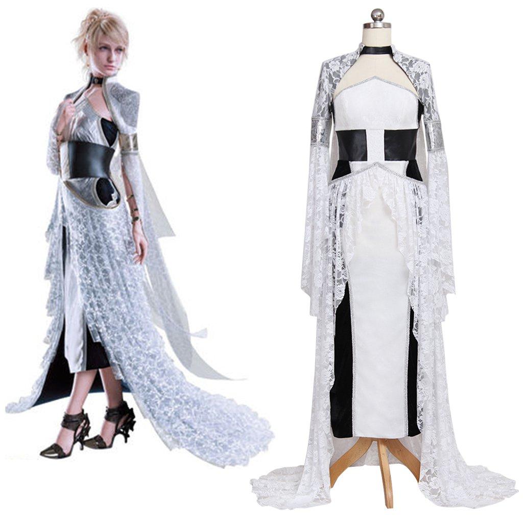Final Fantasy XV Lunafreya Nox Fleuret Dress Outfit Costume Cosplay ...