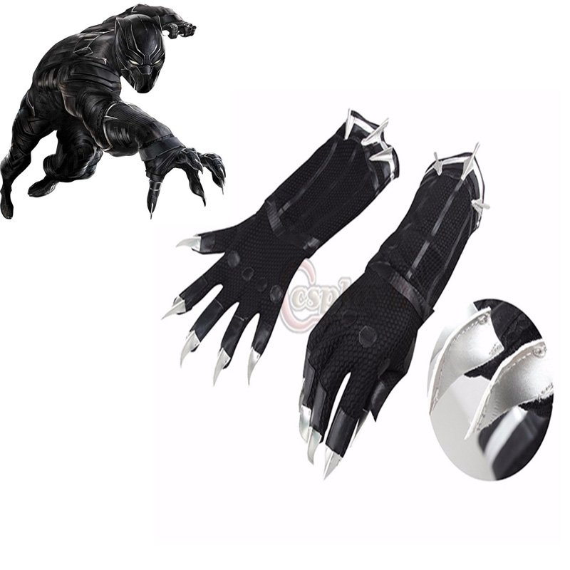 Black Panther Gloves Cosplay Captain America 3 Civil War Adult's Cool Gloves Cosplay Accessories