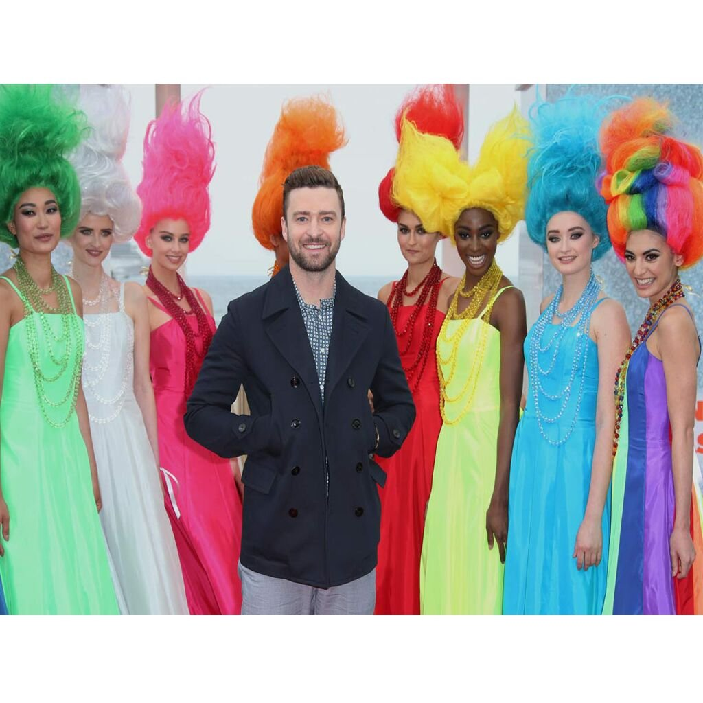Girl's Dress Movie Torlls Princess Poppy Custom Made Colorful Dress Cosplay