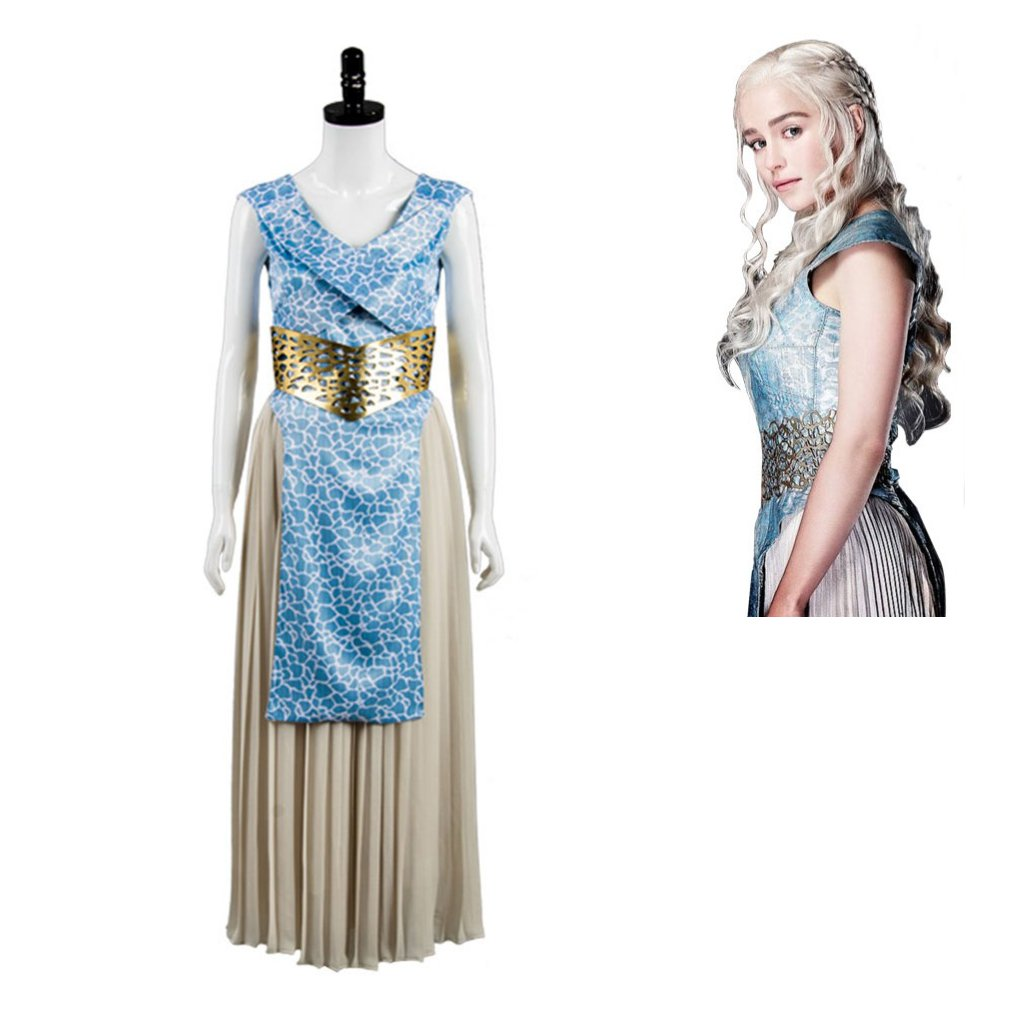 Game of Thrones Season 7 Daenerys Targaryen Dany Dress Cosplay Women's Dress for Carnival Party