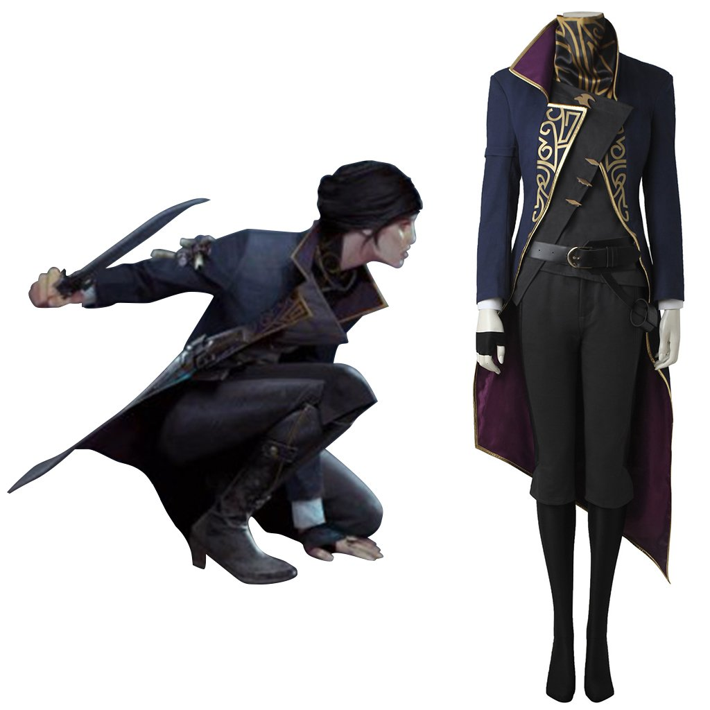 Dishonored 2 Emily Kaldwin Costume Cosplay Women's Outfit for Halloween Party