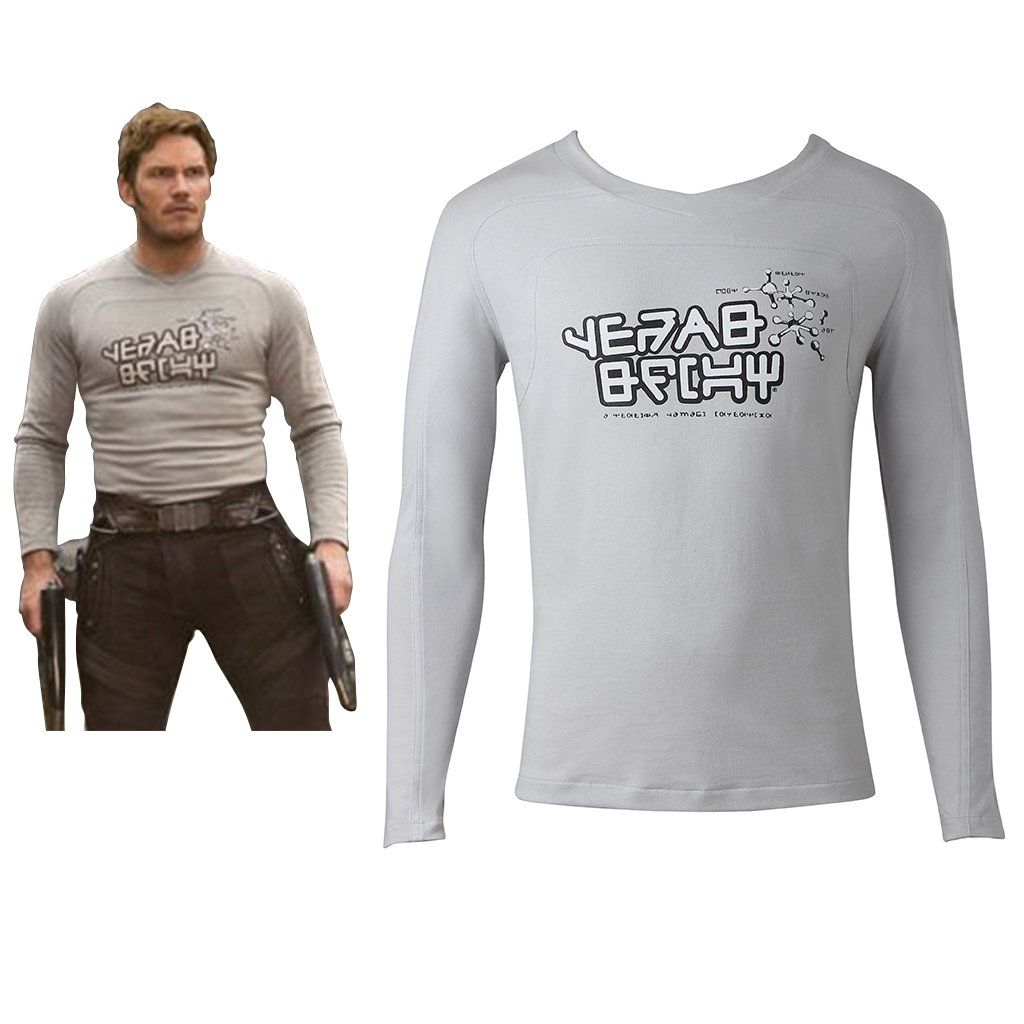 Guardians of the Galaxy 2 Peter Jason Quill Shirt Cosplay Adult's Long Sleeve Shirt Cosplay
