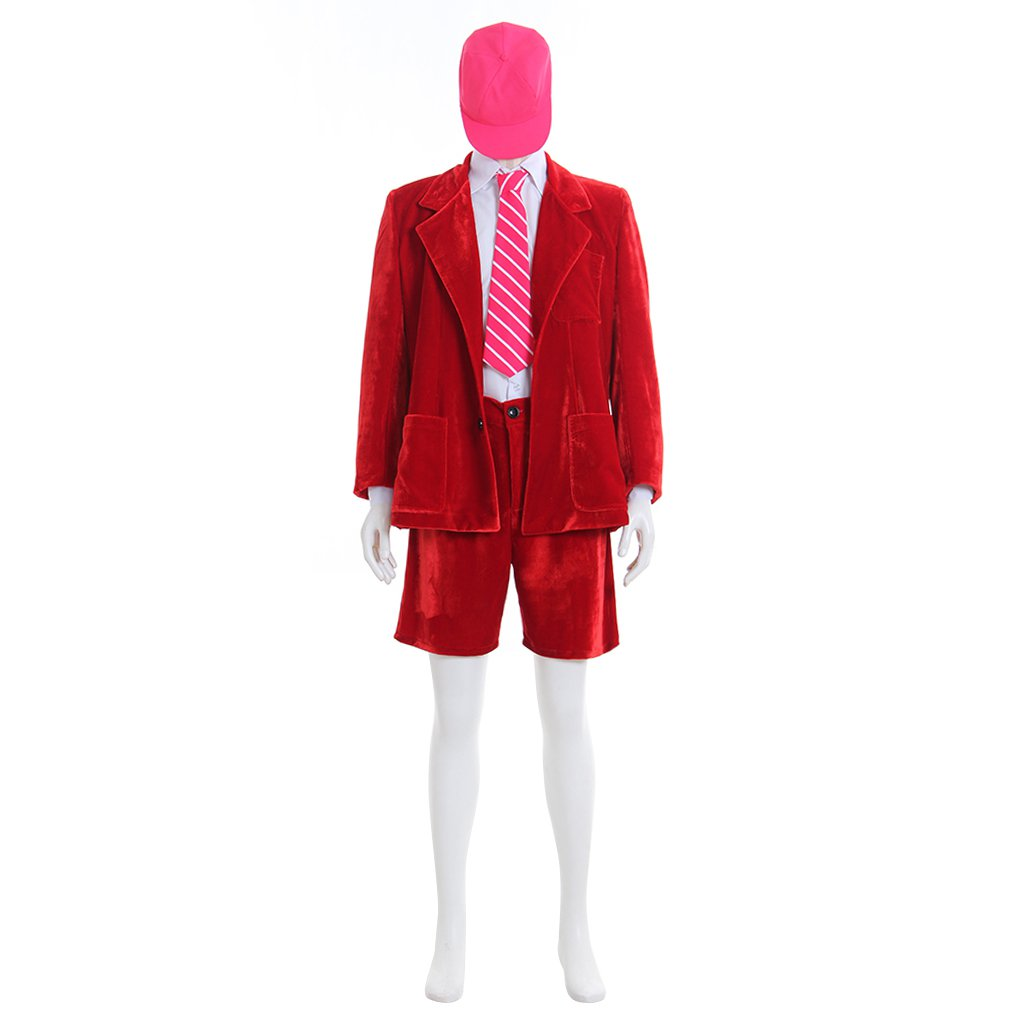 Custom Made Famous AC/DC Band Red Suit Outwear Shorts Shirt Tie Hat Costume Cosplay for Party