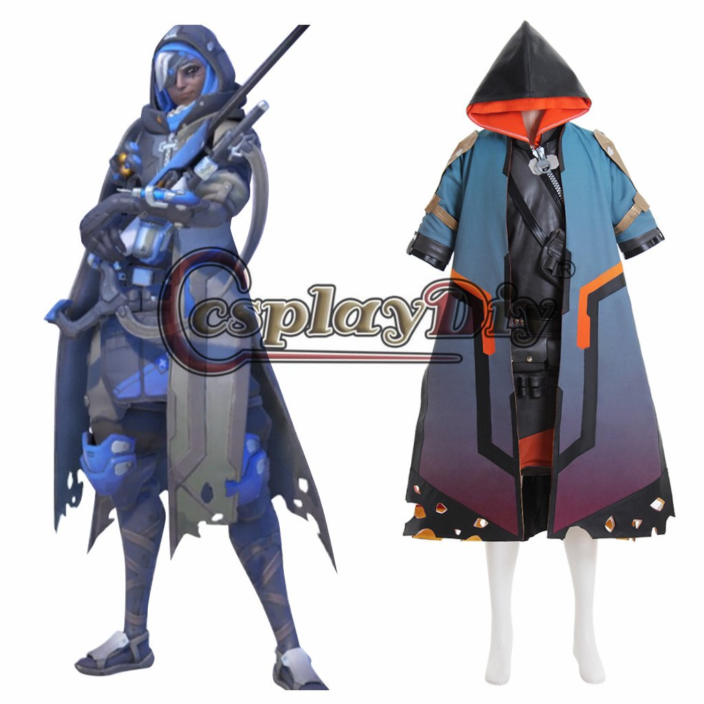 Overwatch Ana Costume Cosplay Adult's Custom Made Outfit Cosplay for Party