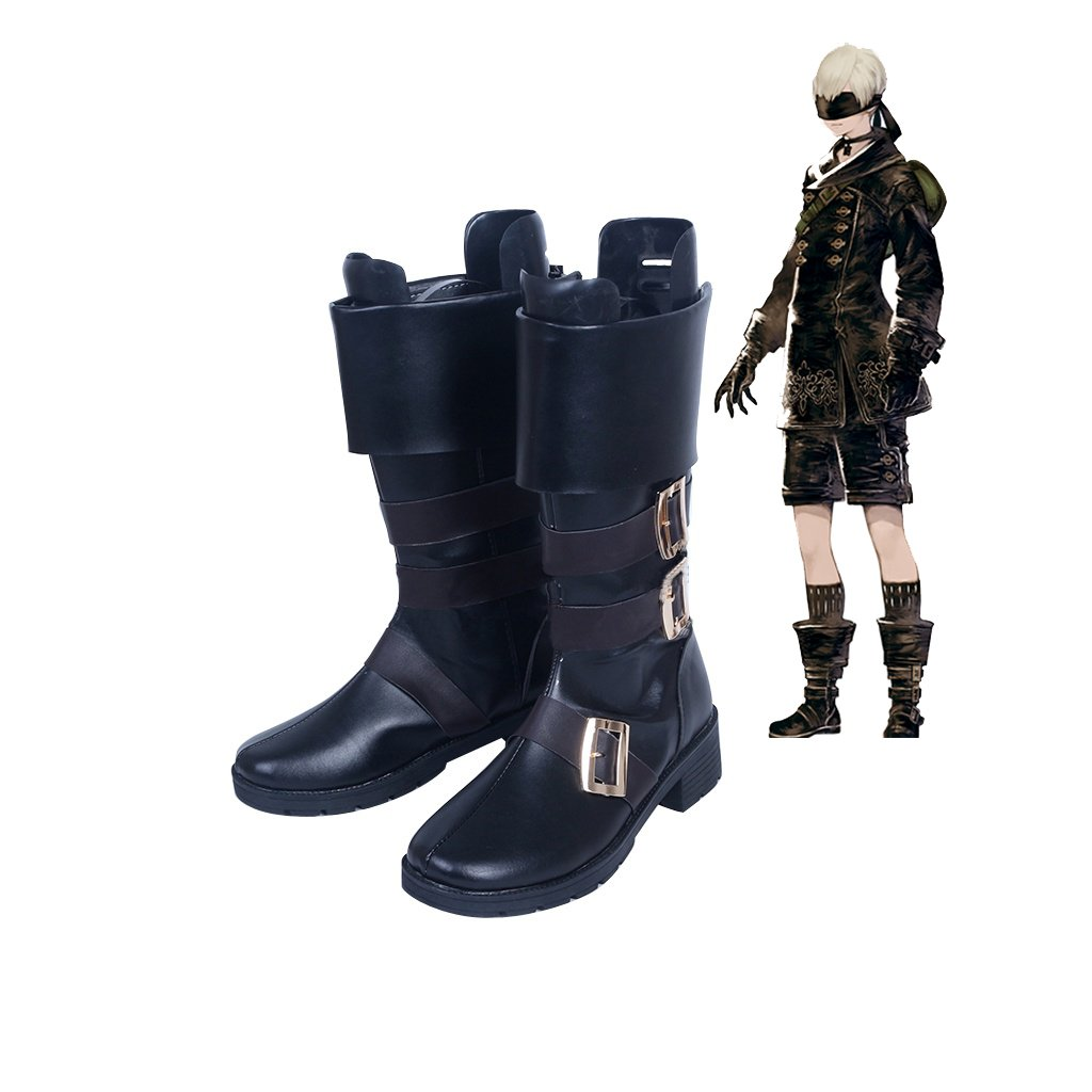 Game NieR Automata YoRHa No.9 Type S Black Shoes Men's Boots Cosplay for Party
