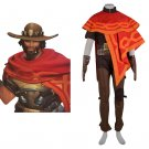 Popular game OW Jesse McCree Cosplay costume Halloween costumes for adults Custom made