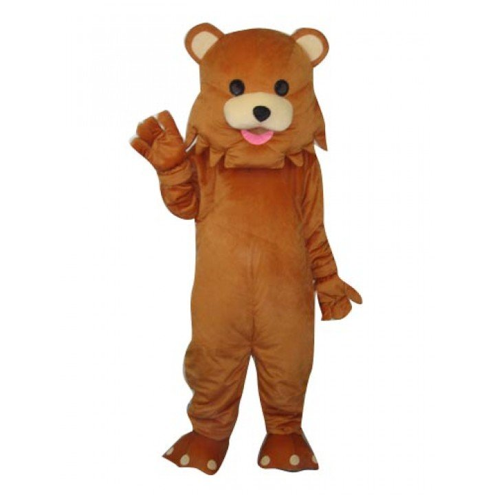 Lovely Brown Bear Mascot Costume Adult size Party Dress