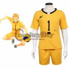 Anime Haikyuu Johzenji High Captain Yuuji Terushima Cosplay Costume School Volleyball Club Cosplay